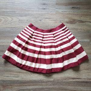 ❤ NYC Burgundy Striped Skirt